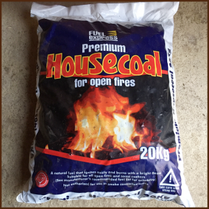 Housecoal premium for open fires 20kg from ALL FIRED UP