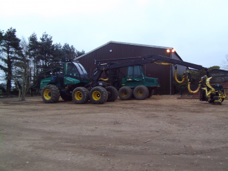 The TimberJacks ready for a days work in the forest at ALL FIRED UP