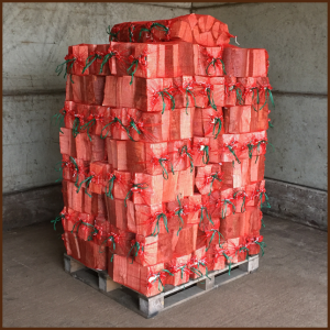 100 bags of ALL FIRED UP quality kiln dried logs on a pallet image 1