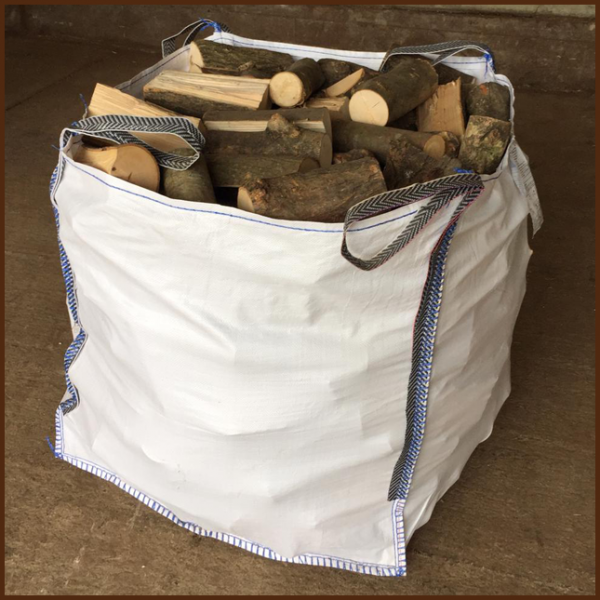 Large dumpy bag of mixed quality kiln logs 10inch from ALL FIRED UP image 1