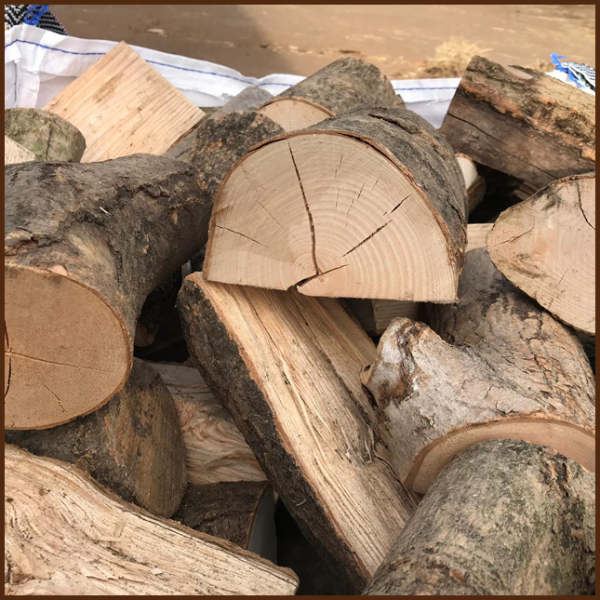 Large dumpy bag of mixed quality kiln logs 10inch from ALL FIRED UP image 3