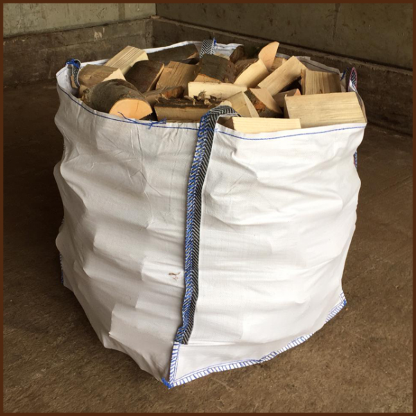Large dumpy bag of mixed quality kiln logs 8inch from ALL FIRED UP image 1