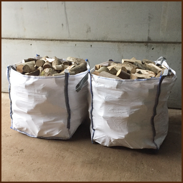 2 Large dumpy bags of mixed quality kiln logs 10inch from ALL FIRED UP image 1