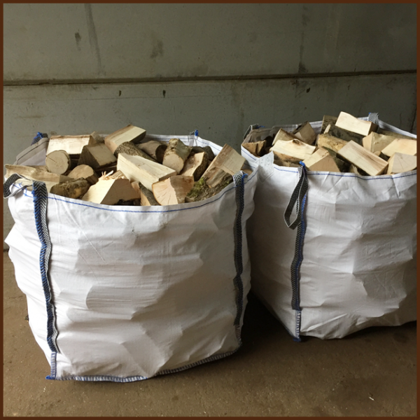 2 Large dumpy bags of mixed quality kiln logs 8inch from ALL FIRED UP image 1